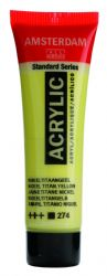 Amsterdam Standard Series Art Acrylic Paint Small Size tube 20 ml - Nickel Titanium Yellow